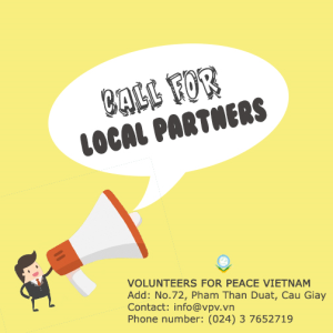 CALL FOR LOCAL PARTNERS